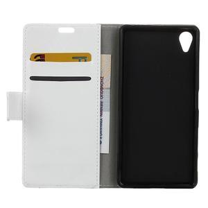 Horse PU kožené pouzdro na Sony Xperia X - bílé - 6