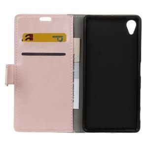 Horse PU kožené pouzdro na Sony Xperia X - růžové - 6