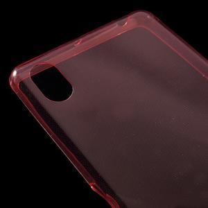 Ultratenký 0.5 mm gelový obal na Sony Xperia X - červený - 6