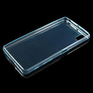 Ultratenký 0.5 mm gelový obal na Sony Xperia X - světlemodrý - 6