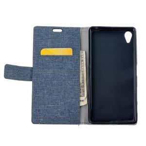 Texture puzdro pre mobil Sony Xperia X - tmavomodré - 6