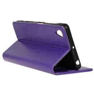 Horse PU kožené pouzdro na Sony Xperia X - fialové - 6