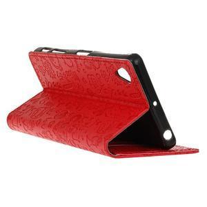 Cartoo Peňaženkové puzdro pre Sony Xperia X - červené - 6