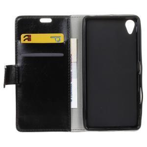 Horse Peňaženkové puzdro pre Sony Xperia X Performance - čierne - 6