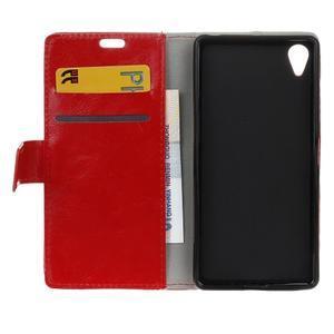 Horse Peňaženkové puzdro pre Sony Xperia X Performance - červené - 6