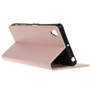 Horse Peňaženkové puzdro pre Sony Xperia X Performance - ružové - 6