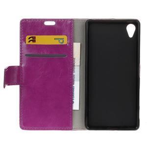 Horse Peňaženkové puzdro pre Sony Xperia X Performance - fialové - 6