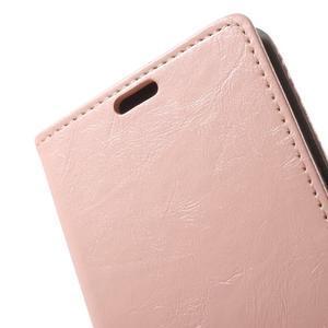 Horse PU kožené puzdro pre mobil Sony Xperia XA - ružové - 6