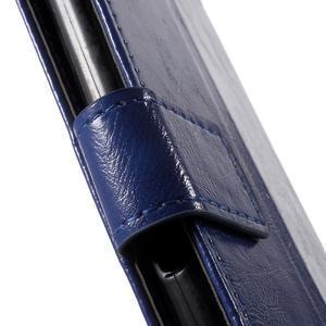 Horse PU kožené pouzdro na mobil Sony Xperia XA - modré - 6