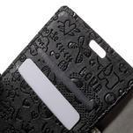 Cartoo peněženkové pouzdro na mobil Sony Xperia XA - černé - 6/7