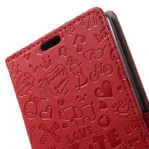Cartoo Peňaženkové puzdro pre mobil Sony Xperia XA - červené - 6