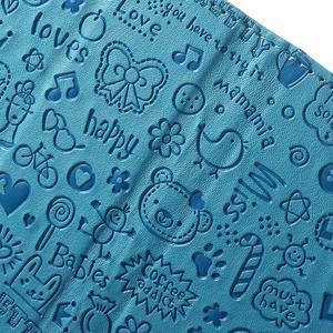 Cartoo peněženkové pouzdro na mobil Sony Xperia XA - modré - 6