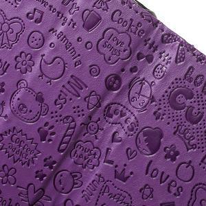 Cartoo Peňaženkové puzdro pre mobil Sony Xperia XA - fialové - 6