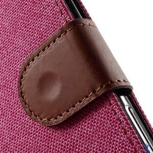 Denim textilné/koženkové puzdro pre Sony Xperia XA - rose - 6