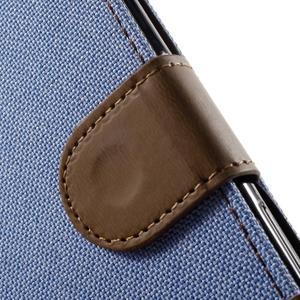 Denim textilní/koženkové pouzdro na Sony Xperia XA - světlemodré - 6