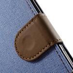 Denim textilní/koženkové pouzdro na Sony Xperia XA - světlemodré - 6/7