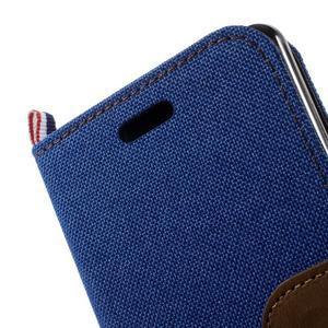Denim textilní/koženkové pouzdro na Sony Xperia XA - modré - 6
