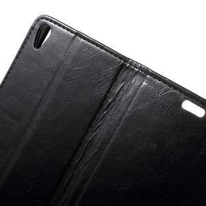 Horse PU kožené puzdro pre mobil Sony Xperia XA - čierne - 6