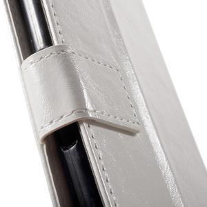Horse PU kožené puzdro pre mobil Sony Xperia XA - biele - 6