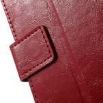 Horse PU kožené pouzdro na mobil Sony Xperia XA - červené - 6/7