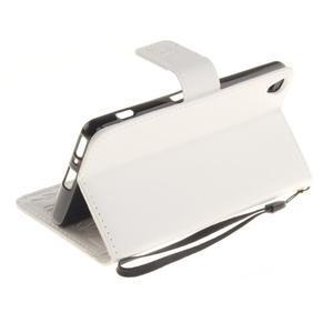 Dandely PU kožené puzdro pre mobil Sony Xperia XA - biele - 6