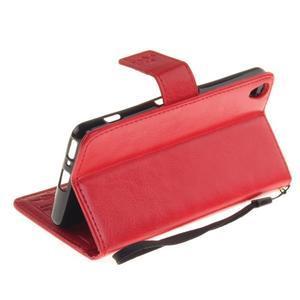 Dandely PU kožené pouzdro na mobil Sony Xperia XA - červené - 6