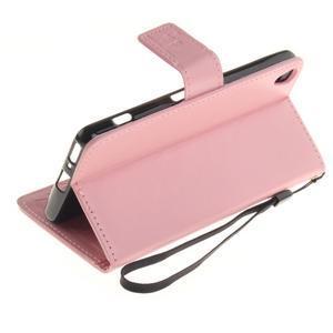 Dandely PU kožené pouzdro na mobil Sony Xperia XA - růžové - 6