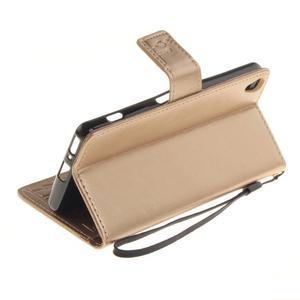 Dandely PU kožené pouzdro na mobil Sony Xperia XA - zlaté - 6