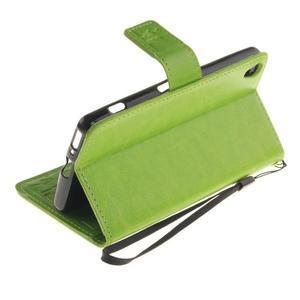 Dandely PU kožené puzdro pre mobil Sony Xperia XA - zelené - 6