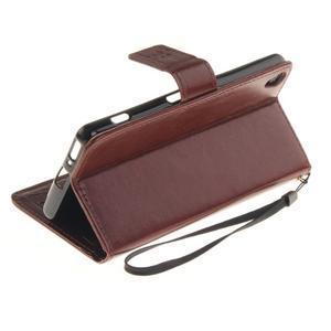 Dandely PU kožené puzdro pre mobil Sony Xperia XA - hnedé - 6