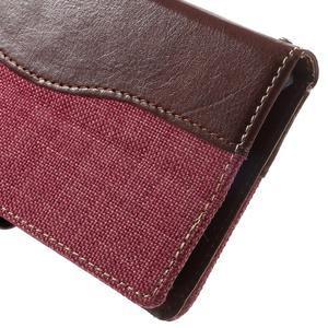Jeansy PU kožené/textilné puzdro pre Sony Xperia XA - rose - 6