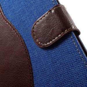 Jeansy PU kožené/textilné puzdro pre Sony Xperia XA - modré - 6