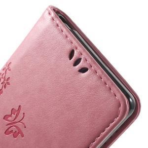 Butterfly pouzdro na mobil Sony Xperia XA - růžové - 6
