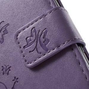 Butterfly puzdro pre mobil Sony Xperia XA - fialové - 6
