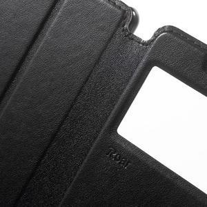 Royal PU kožené puzdro s okienkom na Sony Xperia XA - čierne - 6