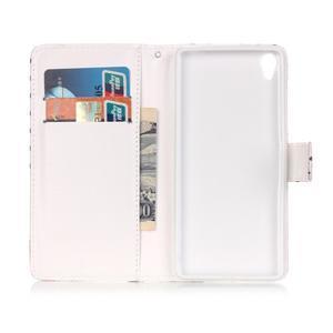 Emotive PU kožené knížkové puzdro pre Sony Xperia XA - srdiečka - 6