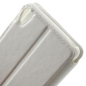 Royal PU kožené pouzdro s okýnkem na Sony Xperia XA - bílé - 6