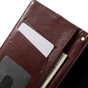 Jeansy PU kožené/textilné puzdro pre Sony Xperia XA - čierne - 6