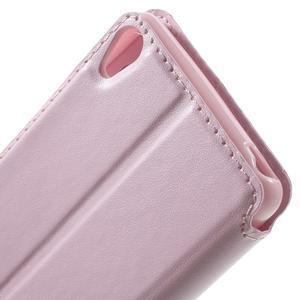 Royal PU kožené puzdro s okienkom na Sony Xperia XA - ružové - 6