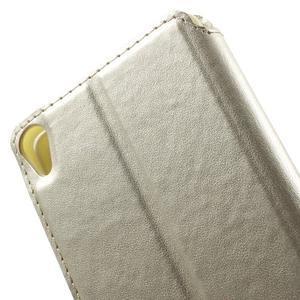 Royal PU kožené pouzdro s okýnkem na Sony Xperia XA - zlaté - 6
