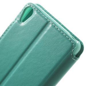 Royal PU kožené pouzdro s okýnkem na Sony Xperia XA - azurové - 6