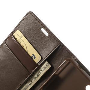 Sonata PU kožené puzdro pre mobil Sony Xperia Z1 Compact - coffee - 6