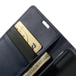 Sonata PU kožené puzdro pre mobil Sony Xperia Z1 Compact - tmavomodré - 6