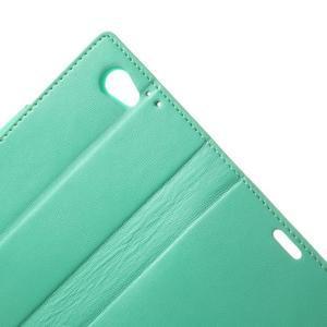 Sonata PU kožené puzdro pre mobil Sony Xperia Z1 Compact - azurové - 6