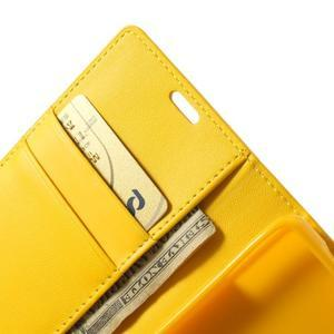 Sonata PU kožené puzdro pre mobil Sony Xperia Z1 Compact - žlté - 6