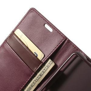 Sonata PU kožené pouzdro na mobil Sony Xperia Z1 Compact - vínové - 6