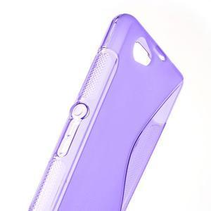 Gelové S-line pouzdro na Sony Xperia Z1 Compact - fialové - 6
