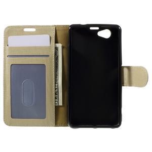 Clothy PU kožené puzdro pre Sony Xperia Z1 Compact - champagne - 6