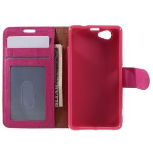 Clothy PU kožené pouzdro na Sony Xperia Z1 Compact - rose - 6