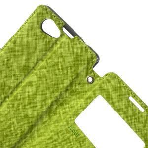 Okýnkové pouzdro na mobil Sony Xperia Z1 Compact - zelené - 6